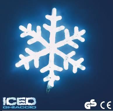 Stella Di Natale Led.Stella Di Natale 40x44 Figura Luminosa Con 90 Led Bianchi