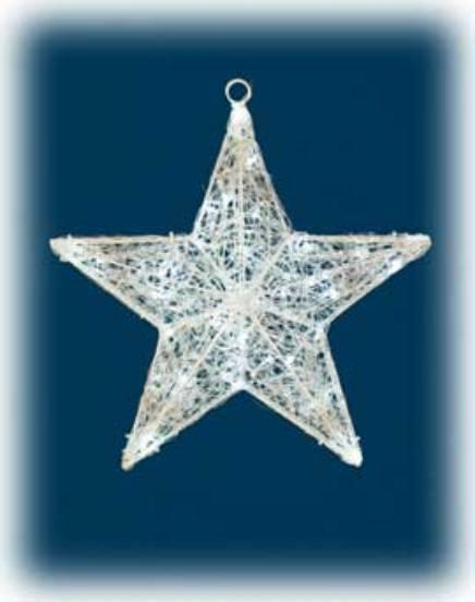 Stella Luminosa Di Natale.Stella Di Natale 50x50 Figura Luminosa Con 48 Led Bianchi E Memory